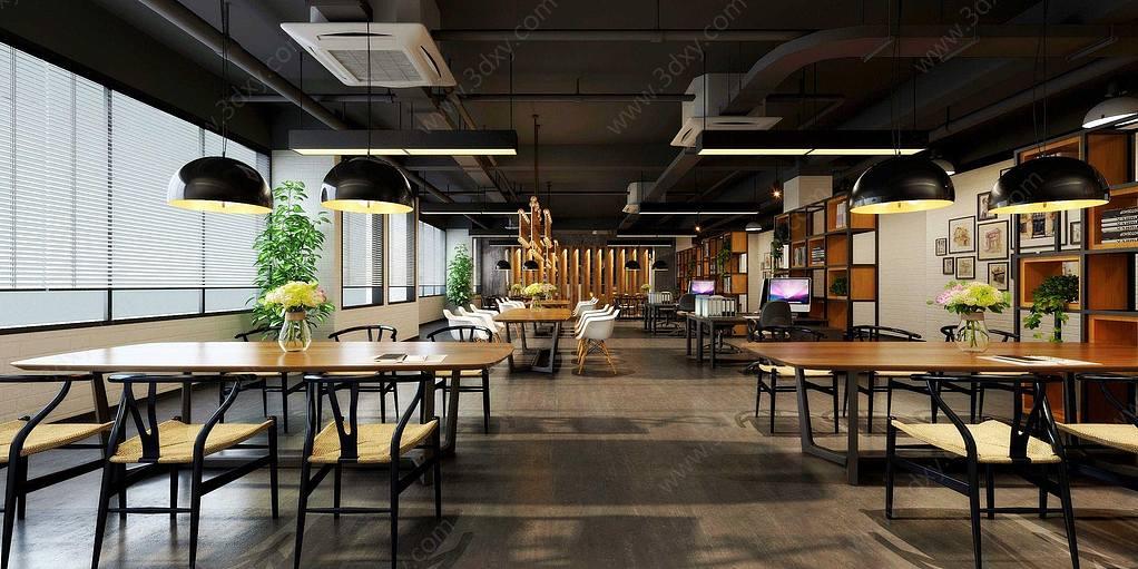 现代餐厅桌椅