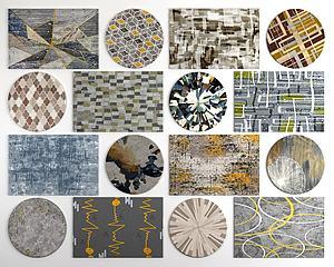 现代几何图案地毯3d模型