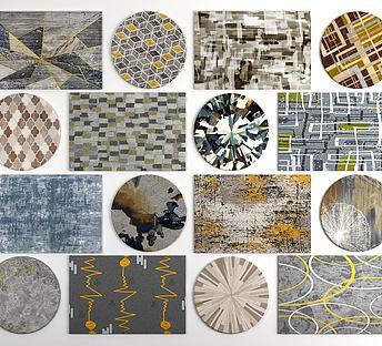 现代几何图案地毯