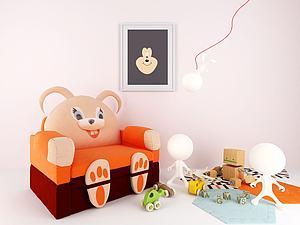 儿童座椅玩具组合模型3d模型