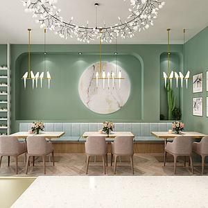 3d咖啡厅烘焙店模型