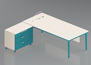 3d简约办公桌模型
