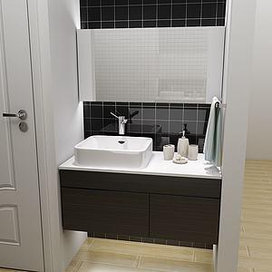 現代衛浴柜3d模型