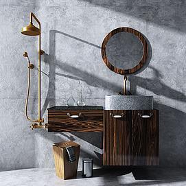 现代卫浴柜模型