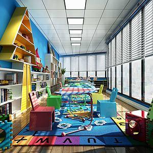 儿童游乐园娱乐场所模型3d模型