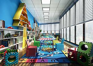 儿童游乐园娱乐场所3d模型