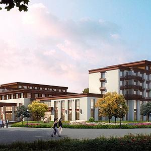 藏式酒店模型