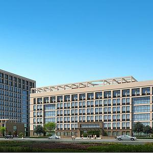 现代建筑办公楼模型