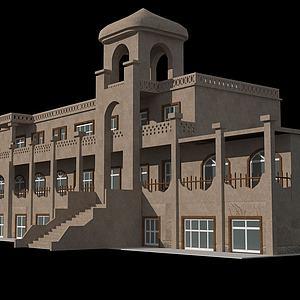 沙堡建筑模型