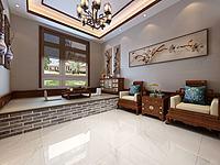 中式炕卧室3d模型