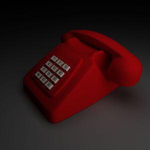 老式电话座机模型