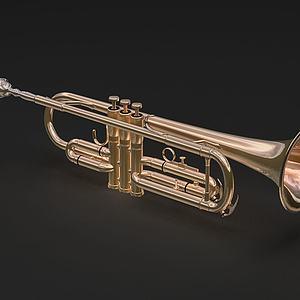 西洋乐器短号模型