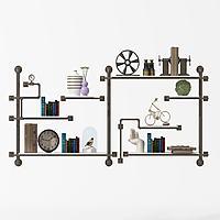 金属书架装饰架3d模型