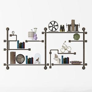 金属书架装饰架模型
