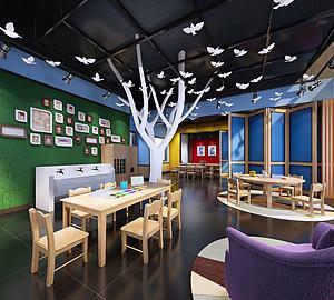 幼儿园教室绘画室3d模型