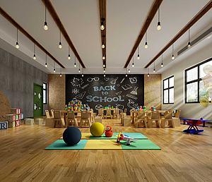 幼儿园教室娱乐室3d模型