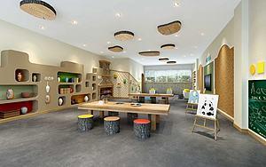 幼儿园绘画室3d模型