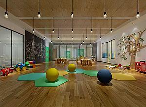幼儿园儿童娱乐场3d模型