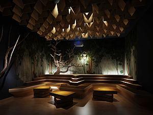 景观展览室3d模型