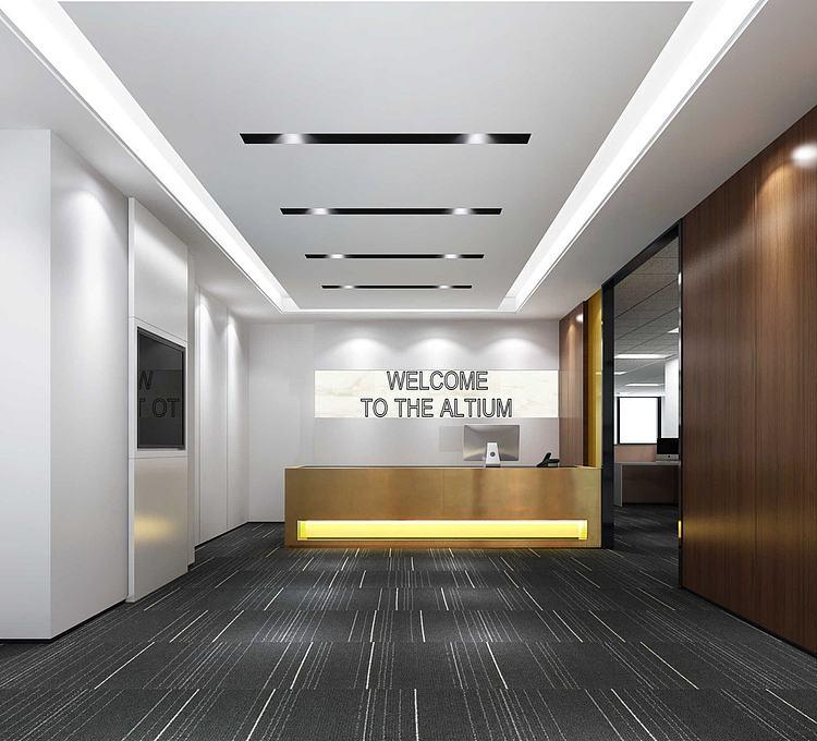 办公室公司前台模型