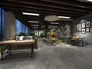 现代咖啡馆3d模型