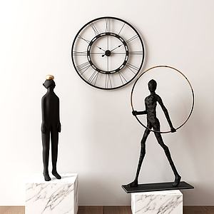 现代抽象人物摆件模型3d模型