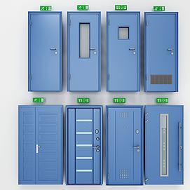 3d消防门组合模型