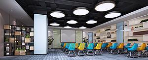 现代工业风会议室3d模型