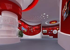 党建展厅3d模型
