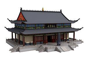 中式古建宝殿模型3d模型
