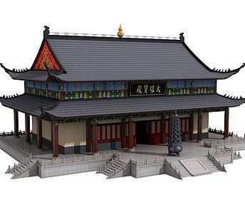 中式古建宝殿