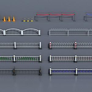 道路隔离护栏模型