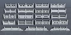 汉白玉护栏栏杆模型3d模型