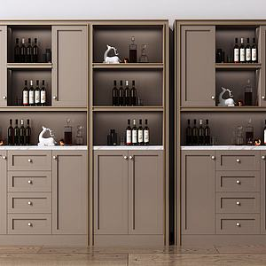 现代酒柜装饰柜模型