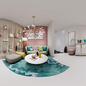 3d北欧现代客厅模型