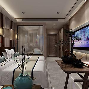 新中式酒店?#22836;?d模型