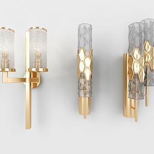 北欧金属壁灯组合模型