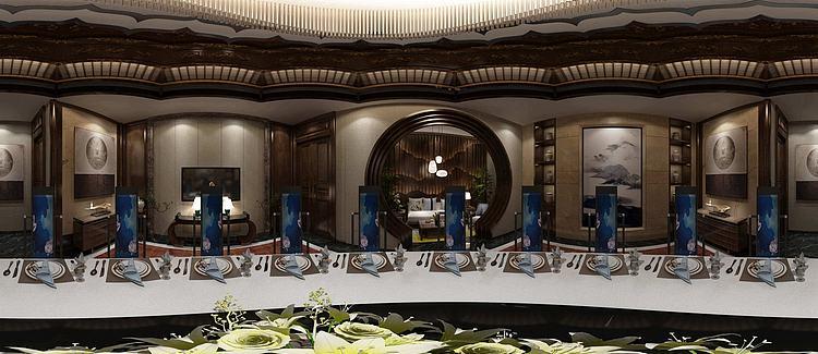 /3dmax/新中式酒店包间.html