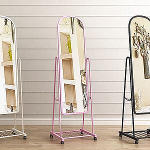 现代落地穿衣镜组合模型
