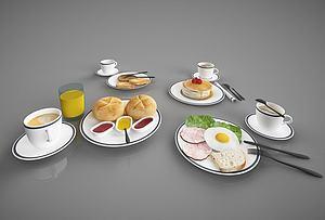 3d现代<font class='myIsRed'>食物</font>摆件模型