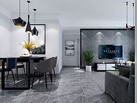 现代客厅餐厅卧室3d模型