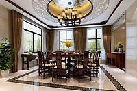 中式客厅餐厅厨房3d模型