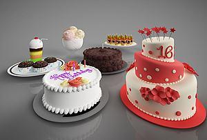 3d食物<font class='myIsRed'>蛋糕</font>模型