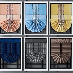 窗帘组合模型