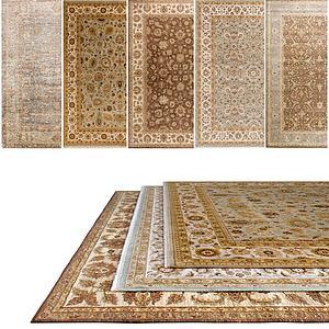 中式花样地毯模型