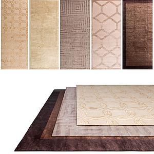 中式复古地毯组合模型
