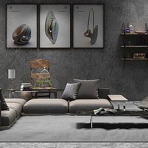 现代沙发?#19968;?#32452;合模型