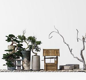 3d<font class='myIsRed'>园林</font>景观摆设模型