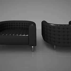 简欧单人沙发模型