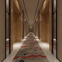 现代走廊过道3d模型